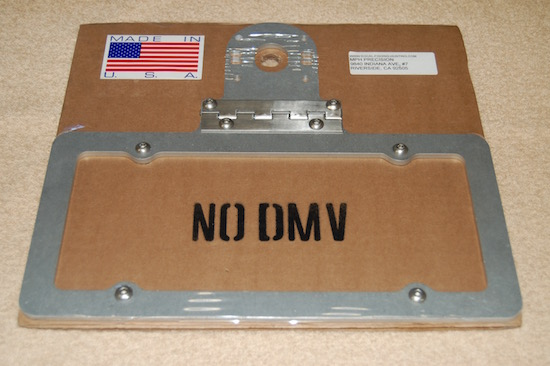 Boat Trailer License Plate Bracket Hinged